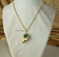 Kokiri Emerald Pendant Necklace ZELDA Handmade #19 by TorresDesigns
