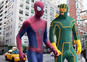 Spider-Man and Kick-Ass go for a walk by stick-man-11