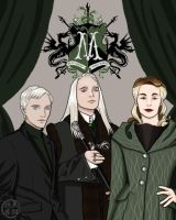 Malfoy Family Portait by KurohaneShizumi