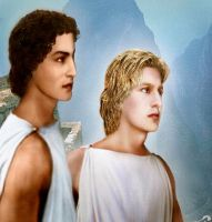 Hephaestion and Alexander by Gemmonia by AlexanderAeternus
