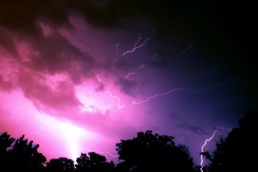 Another Lightning Shot by Lucifeil