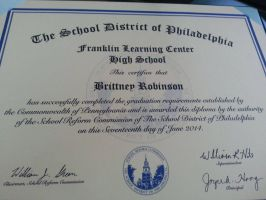 My Diploma! :D by WinterMoon95