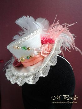 Custom mini top hat for First Communion by arcticorset
