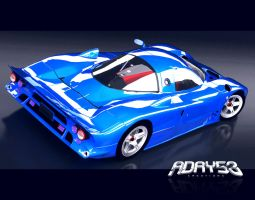 1998 Nissan R390 GT1 by Adry53