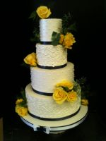 First Wedding Cake by Spudnuts