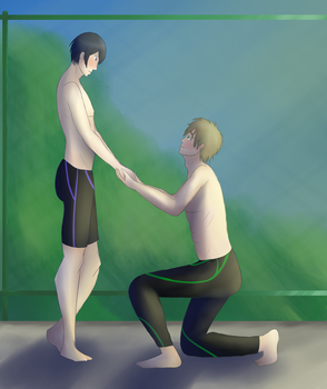 31 Day Challenge - Day 16 Mako and Haru's Moment by bluebuterflyef