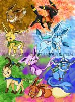 .Golden Sun Cast Eeveelutions. by Inoune