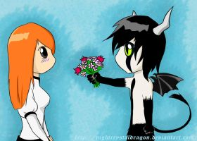 Ulquiorra and Orihime by NightCrystalDragon