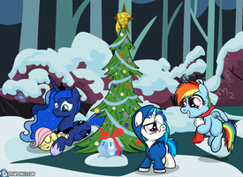 Merry Christmas! (As Seen on EQD) by drawponies