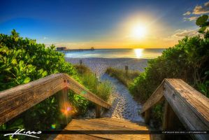 Naples-Florida-Sunset-Steps-to-Pier by CaptainKimo