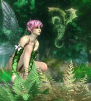 The Fairy and The Dragon by MCKrauss