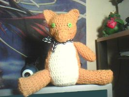 Ginger the three legged cat memorial plushie by SunFireDemon