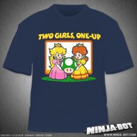 Two Girls, One-Up Shirt Design by StacMaster-S