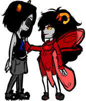 Aradia and Equius - Missed Me? by TheKeymashingQueen