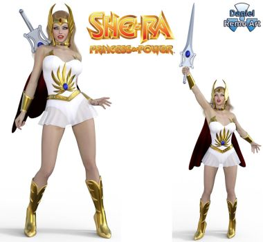 Iray - Heroines - She-ra by Daniel-Remo-Art