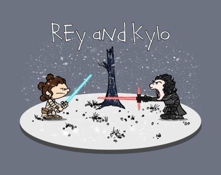 Rey and Kylo by Jefferson-Apgar