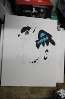 working on amarok painting by Shadowfoxnjp