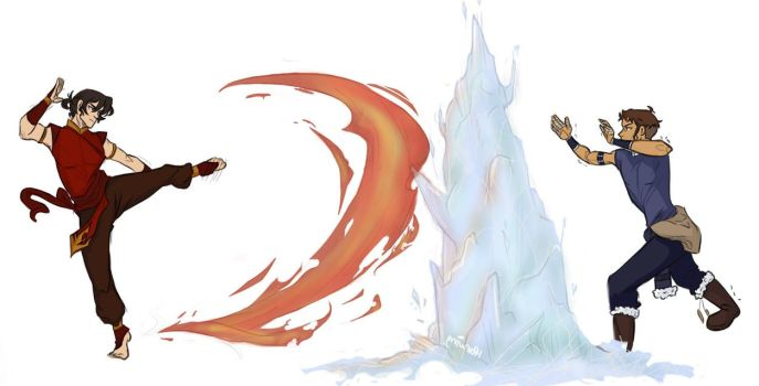 Fire and ice ice baby by Iparwing