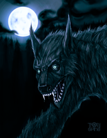 Night of the werewolf by ThornSpine
