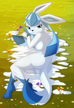 Glaceon by WhitMaverick
