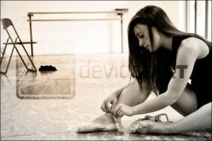 Wearing Ballet Shoes by GothicBrokenBabe