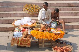 Street Vendor (Varanasi, India) by drewhoshkiw