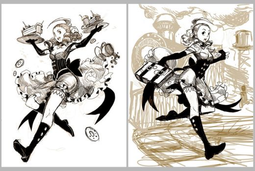 The Wanderer - IFX cover sketches by GENZOMAN