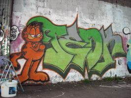 Garfield and Tedk by dadouX
