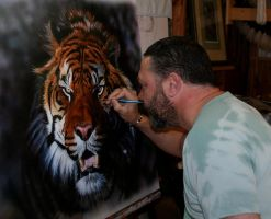 Me at work on next painting by hunterpaul