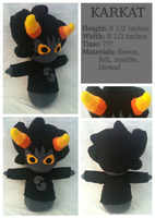 Karkat Plush by Blubble-The-Blubs