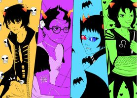 Halloween homestuck by AleKaiLin
