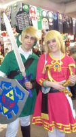 OoT Link and SS Zelda by crocheter