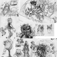 Sketches: Sonic, Amy and the scariest Eggman ever by MrARTism
