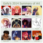 2014 Art Summary by Gollyzilla