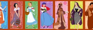 Disney princesses peasants by Sweet-Amy-Leah