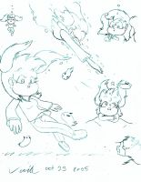 Heather and Sea Bunnies Doodles by Son-Void