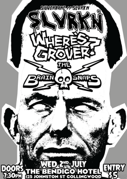 SLVRKN / WHERE'S GROVER? / BRAIN SNAPS @ THE BENDY by Jc447