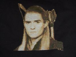 Legolas Cross Stitch by LadyPrime