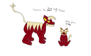 Hecora the bone wolf demon by pd123sonic
