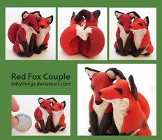 Red Fox Couple - SOLD by Bittythings