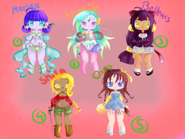 .:ADOPTABLES 02:. (Point adoptable) OPEN (4/5) by Royal-Fluffy
