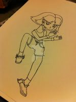 Powerpuff Girls Buttercup Original Drawing by Flying-Fox-Princess