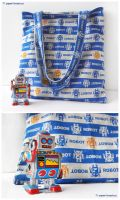 Robot Handbag by littlepaperforest