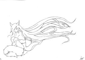 Kitsune (without color) by Aedarun