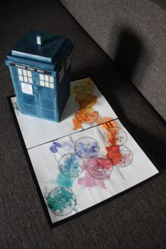 TARDIS stepper compartment with birthday card 2 by eprzybyl