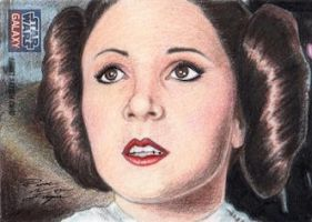 Star Wars G7 - Princess Leia Sketch Art Card by DenaeFrazierStudios