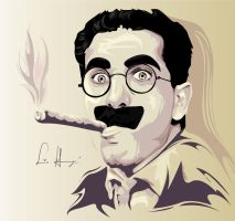 Groucho Marx by Lina-Garzon