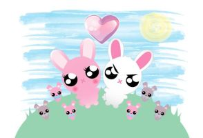 The Bunny Family Commission ~HcGP by Deene1