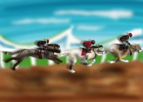 Jr-test-race: Omo, Arrunga, Shakarri by koora-the-tigeress