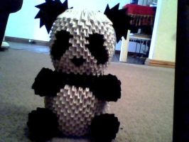 3D origami panda by OneLoneTree